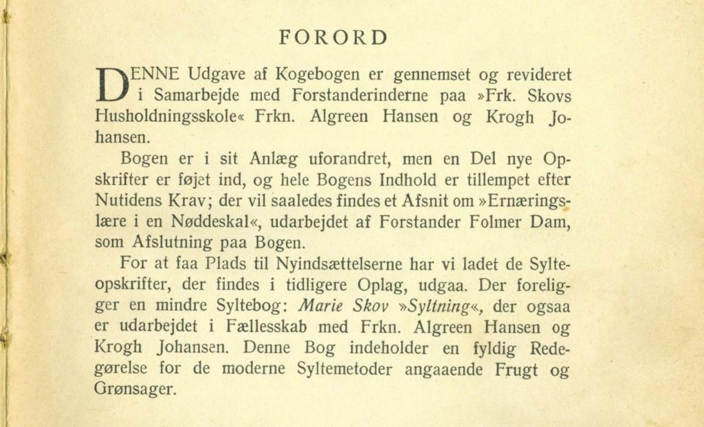 Marie Skov Kogebog FORORD