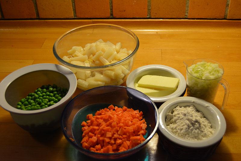 ingredienserne til Høns i Asparges